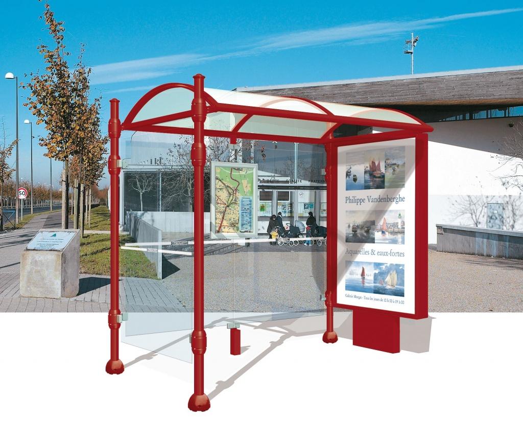 vente abris bus poteaux ronds. Black Bedroom Furniture Sets. Home Design Ideas
